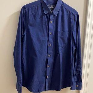 Navy blue Top Man dress shirt
